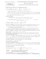 Tài liệu Tổng hợp đề thi thử ĐH môn Toán các khối Đề 10 pptx