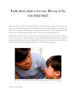 Tài liệu Tính nhút nhát ở trẻ em: Bố mẹ lơ là, con thiệt thòi! doc