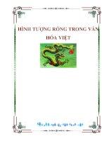 Tài liệu HÌNH TƯỢNG RỒNG TRONG VĂN HÓA VIỆT Nguyễn Minh Triết ppt