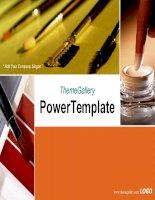 template powerpoint  423tgp makeup light