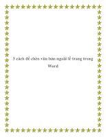 Tài liệu 3 cách để chèn văn bản ngoài lề trang trong Word pot