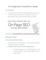Tài liệu Seo Onpage là gì ? hướng dẫn seo onpage potx