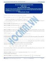 Tài liệu Đề tự luyện thi thử đại học số 05 môn toán doc