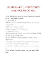 Tài liệu ÔN THI ĐỊA LÝ 12 - THIÊN NHIÊN NHIỆT ĐỚI ẨM GIÓ MÙA pot