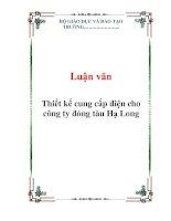 Luận văn Thiết kế cung cấp điện cho công ty đóng tàu Hạ Long