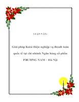 Tài liệu LUẬN VĂN: Giải pháp hoàn thiện nghiệp vụ thánh toán quốc tế tại chi nhánh Ngân hàng cổ phần PHƯƠNG NAM – Hà Nội ppt