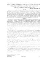 Tài liệu Khảo sát đặc tính nông học của 35 giống Sorghum ở hai điều kiện trong chậu và ngoài đồng tại Chợ Mới và Tri Tôn, An Giang pptx