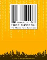 Tài liệu PRIVACY & FREE SPEECH: IT''''S GOOD FOR BUSINESS docx