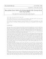 Tài liệu Quy phạm thực hành về những nguyên tắc chung về vệ sinh thực phẩm pdf