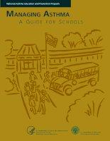 Tài liệu Managing asthma A Guide for Schools pptx