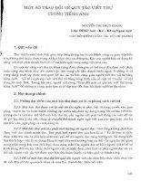Tài liệu Báo cáo khoa học: Một số trao đổi về quy tắc viết thư trong tiếng Anh pptx