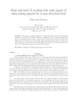 Pháp luật quốc tế và pháp luật nước ngoài về năng lượng nguyên tử vì mục đích hòa bình