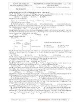 Tài liệu Kiểm tra chất lượng ôn thi đại học lần 1 năm 2011 - THPT Quỳnh Lưu 1 - Mã đề thi 132 docx