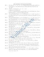 Tài liệu Bài tập giao của đồ thị hàm số với đường thẳng ppt