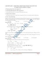 Tài liệu PHƯƠNG PHÁP BẢO TOÀN NGUYÊN TỐ VÀ BẢO TOÀN KHỐI LƯỢNG pdf