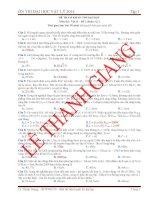 luyện thi đại học vật lý 2014 đề 1 : có giải chi tiết
