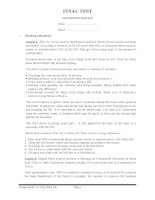 Tài liệu FINAL TEST.FOUNDATION ENGLISH ppt