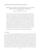 Tài liệu NGHIÊN CỨU ĐẶC ĐIỂM VÀ MỐI LIÊN KẾT CỦA CÁC TÁC NHÂN TRONG CHUỖI GIÁ TRỊ SẮN Ở THỪA THIÊN HUẾ ppt