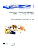 Tài liệu Learning 2.0 - The Impact of Social Media on Learning in Europe ppt