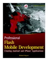 Tài liệu Professional Flash Mobile Development: Creating Android and iPhone Applications pdf