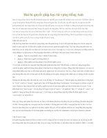 Tài liệu Hai bí quyết giúp học từ vựng tiếng Anh pdf