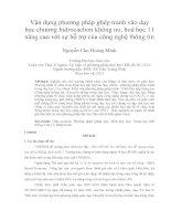 Vận dụng phương pháp ghép tranh vào dạy học chương hidrocacbon không no, hoá học 11 nâng cao với sự hỗ trợ của công nghệ thông tin