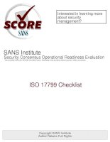 Tài liệu SANS Institute Security Consensus Operational Readiness Evaluation pdf