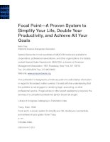 Focal pointa proven system to simplify your life double your productivity and achieve all your goals
