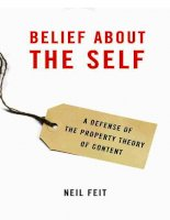 belief about the self a defense of the property theory of content jul 2008