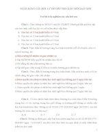 ngân hàng câu hỏi  lý thuyết thi giáo viên dạy giỏi