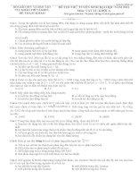 12 đề thi thử vật lý 2011 - Cục khảo thí Bộ giáo dục