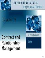 Tài liệu tiếng Anh thương mại quản lý Chapter 18 Contract and relationship management