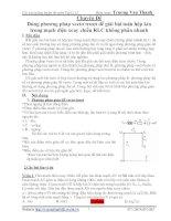 Giải bài toán hộp kín bằng vecto