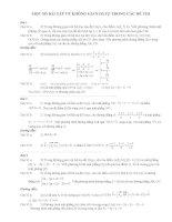 Một số bài tập về không gian OXYZ