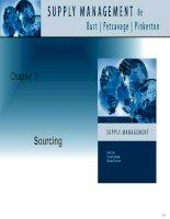 Tài liệu tiếng Anh thương mại quản lý Chapter 11 Sourcing