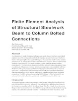 finite element analysis of structural steelwork beam to column bolted connections 2001
