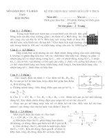 đề thi học sinh giỏi vật lí lớp 9 tỉnh hải dương (kèm đáp án) đề 21