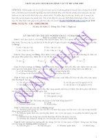 533  câu hỏi trắc nghiệm lý thuyết vật lý 12