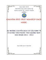 xu hướng chuyển dịch cơ cấu kinh tế ở huyện tiên phước tỉnh quảng nam  giai đoạn 2011-2013