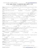 Bài tập trắc nghiệm hóa hữu cơ hay nhất