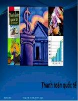Bài giảng Cán cân thanh toán quốc tế: Phần 1 tổng quan về thanh toán quốc tế