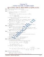 Góc và cung lượng giác lớp 10