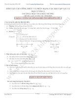 TÓM tắt các CÔNG THỨC và PHÂN DẠNG các bài tập vật lý đại CƯƠNG 2