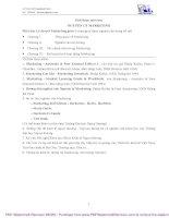 Bài giảng Nguyên lý Marketing: Chương 1 - Tổng quan về Marketing