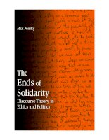 the ends of solidarity discourse theory in ethics and politics mar 2008