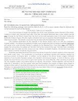 đề thi thử đại học đợt 2 năm 2013 và đáp án môn tiếng anh - chuyên lê quý đôn