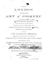 anon - 17-- -london complete art of cookery; also the complete brewer explaining the art of brewing porter, ale, twopenny, and table-beer