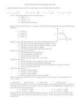 Tuyển tập các câu hỏi trắc nghiệm khách quan vật lý 10