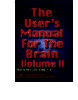 the user's manual for the brain (volume 2) bob g bodenhamer, l.michael hall