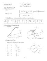 tài liệu ôn thi đại học môn toán tham khảo bồi dưỡng thi Tóm tắt sách giáo khoa Lượng giác
